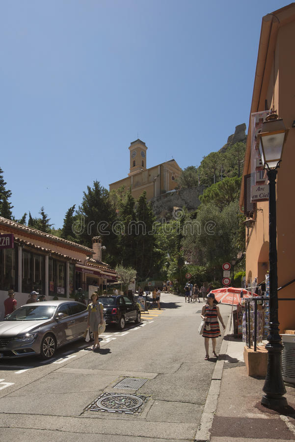 Èze, France. Èze is a commune in the Alpes-Maritimes department in southeastern France. The commune is located on the French Riviera, extending from the stock images