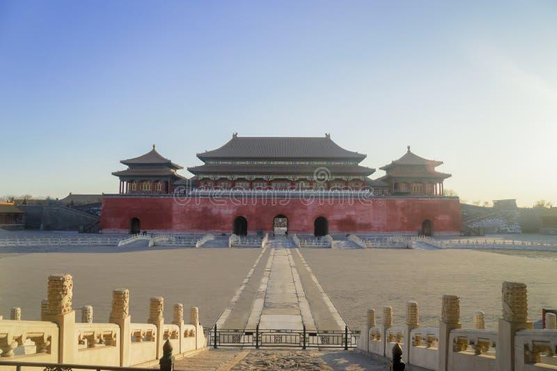 遗产皇家宫殿大厦在紫禁城 免版税库存照片