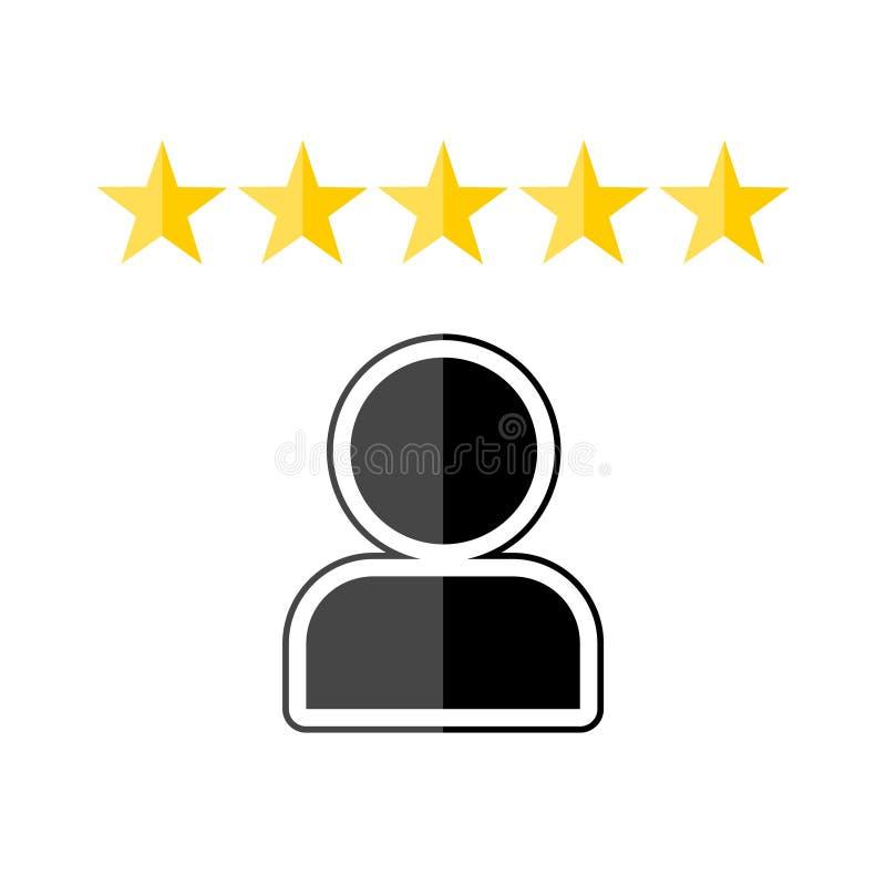 顾客回顾,反馈,评估系统等量概念 皇族释放例证