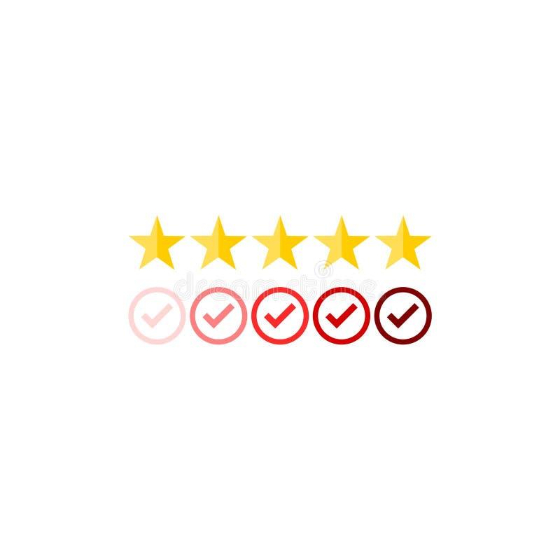 顾客回顾,反馈,评估系统等量概念 向量例证