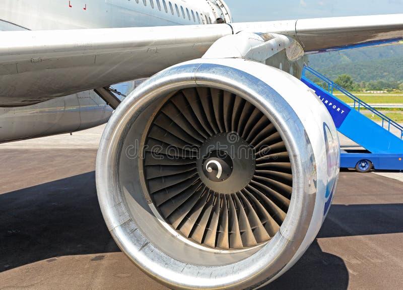 飞机发动机涡轮  图库摄影