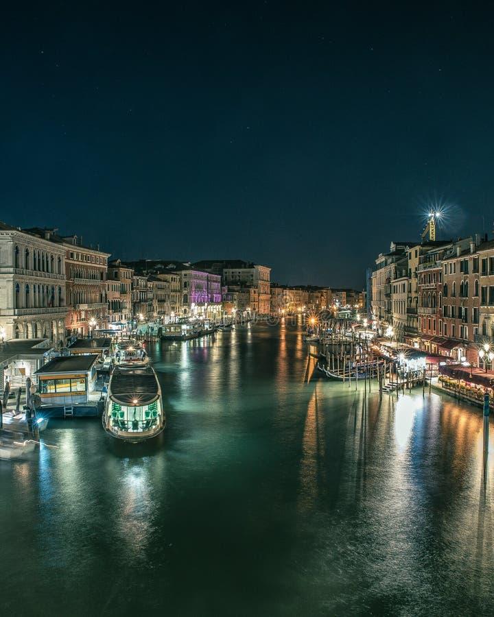 风景在从威尼斯大石桥的桥梁的威尼斯 免版税库存图片