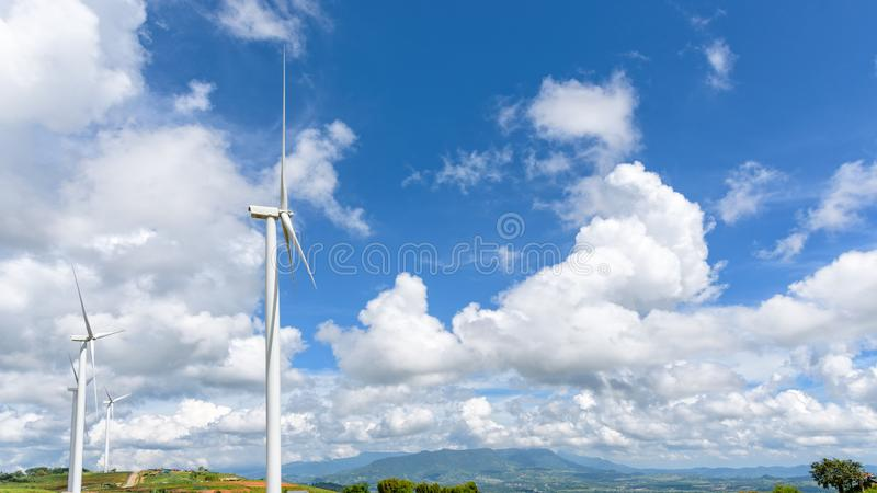 风景风轮机领域 图库摄影