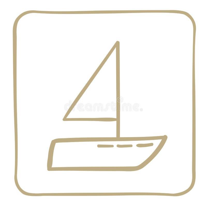 风船-在一个浅褐色的框架的象 是能设计员每个evgeniy图象独立kotelevskiy对象原来的向量 库存例证