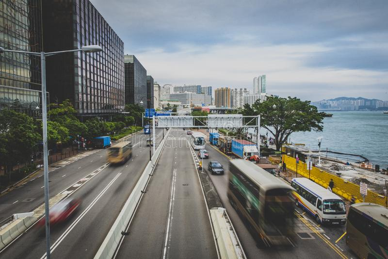 香港,2018年11月-美丽的城市 免版税库存照片