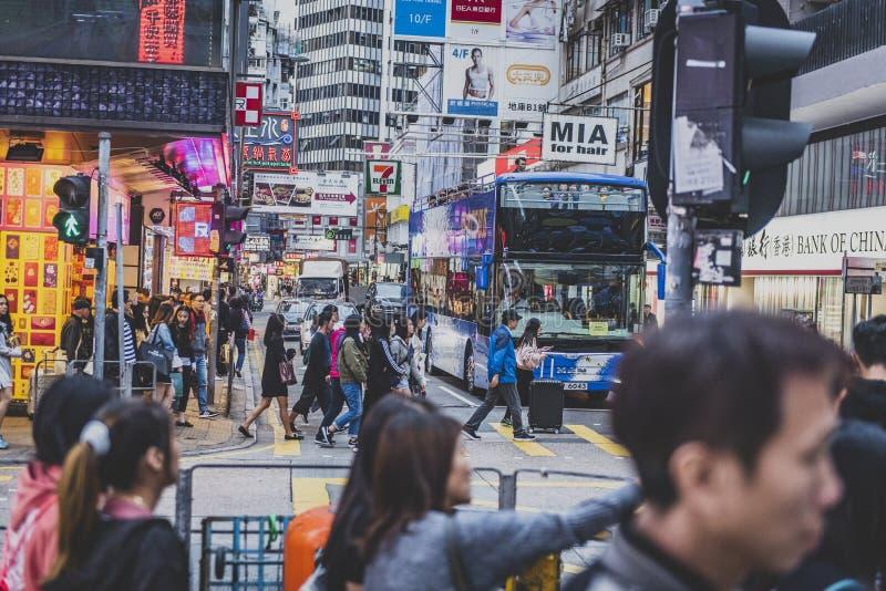 香港,2018年11月-美丽的城市 免版税库存图片
