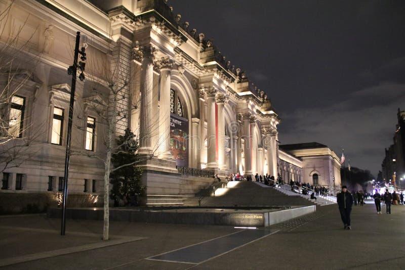 首都艺术博物馆在晚上 免版税库存图片