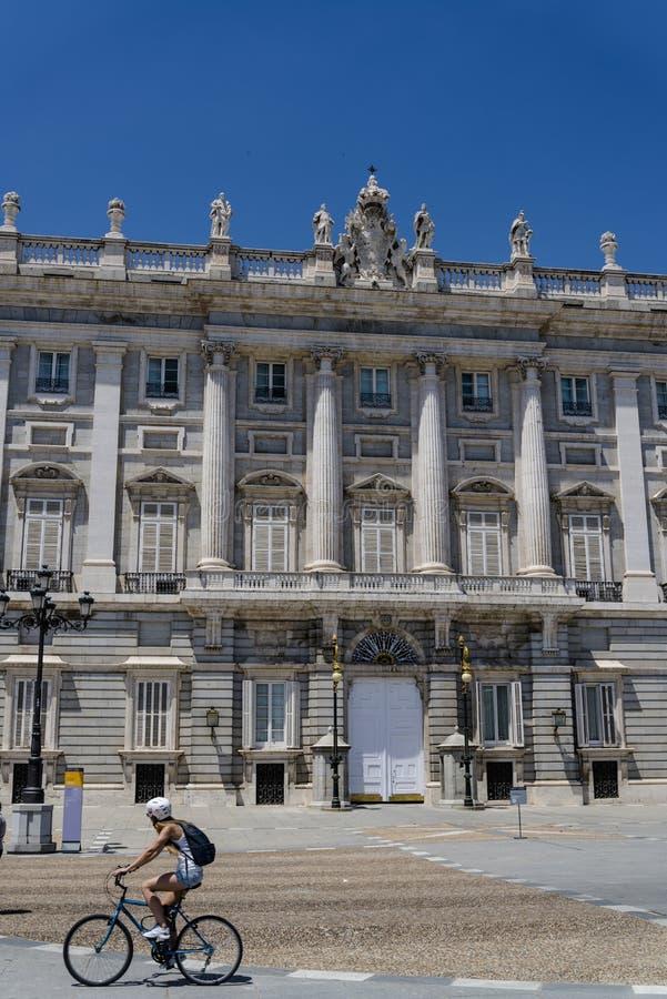 马德里,马德里,西班牙王宫  库存照片