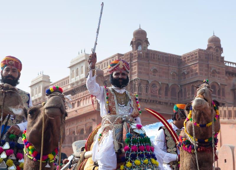 骆驼节日在拉贾斯坦,印度 库存照片