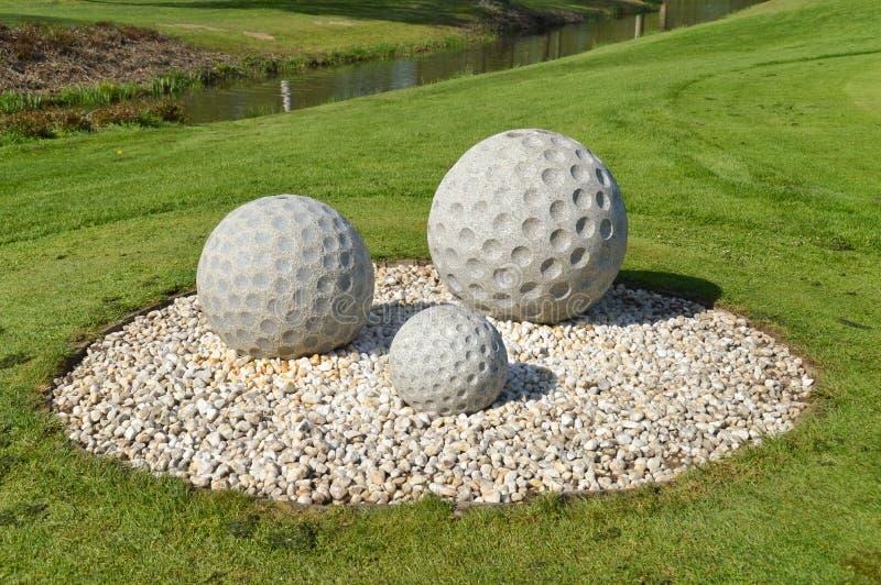 高尔夫球场的纪念碑 免版税库存图片