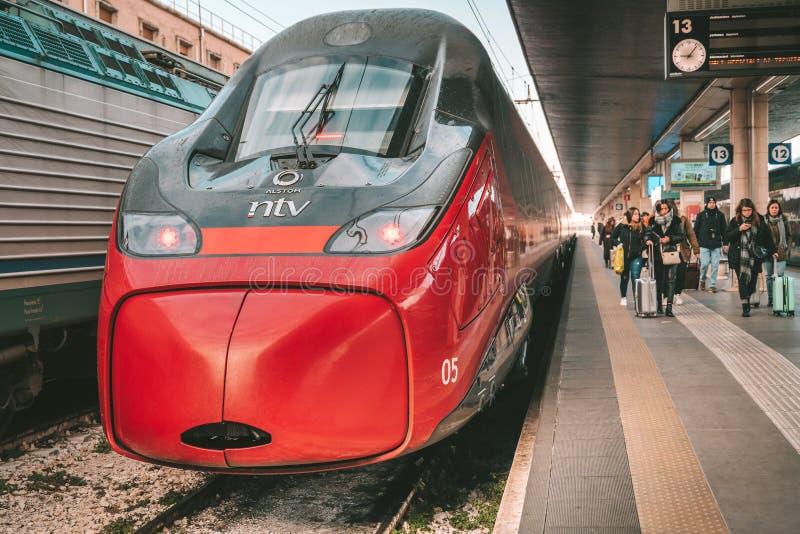 高速列车伊塔洛 免版税库存照片
