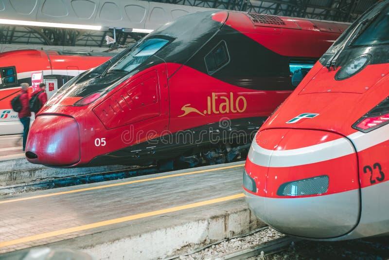 高速列车伊塔洛 库存照片