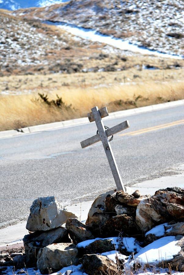 高速公路死亡发怒纪念品 免版税库存图片