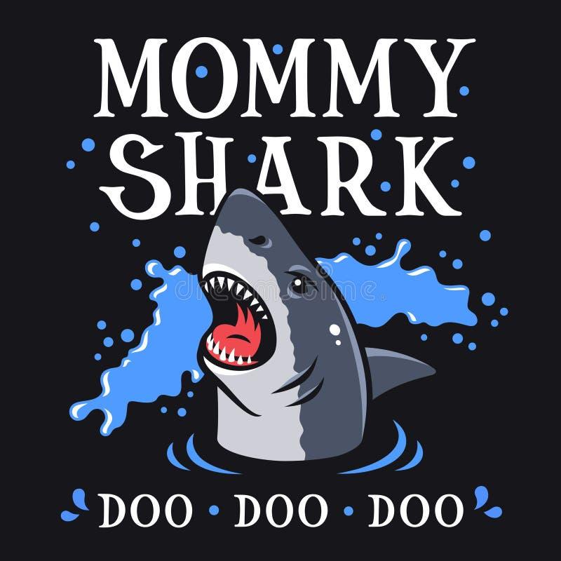 鲨鱼T恤杉006 向量例证