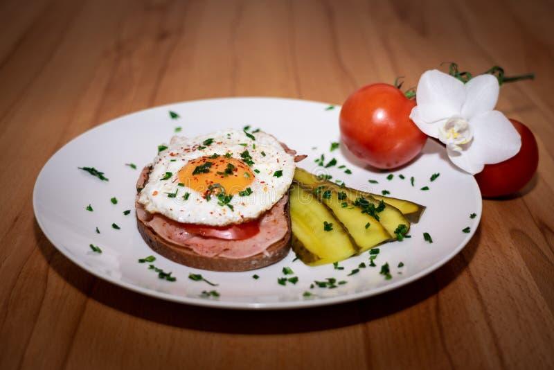 鲜美巴法力亚早餐称口吃最大 免版税图库摄影