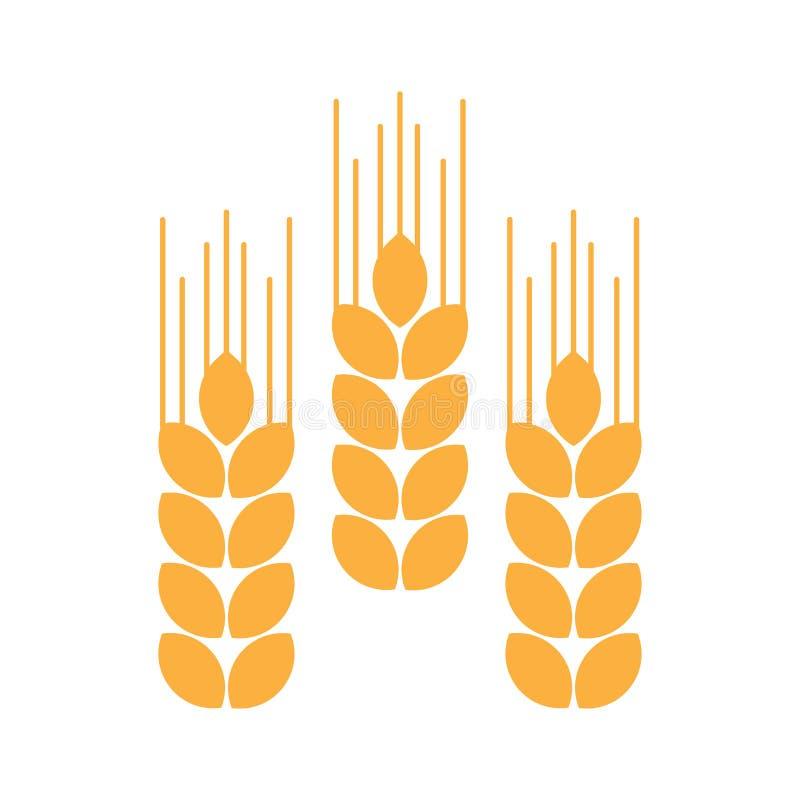 麦子的耳朵 也corel凹道例证向量 皇族释放例证