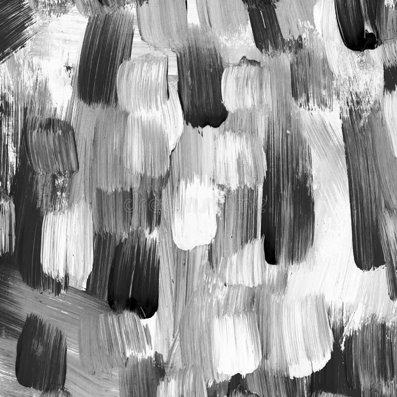 黑白刷子冲程背景  皇族释放例证