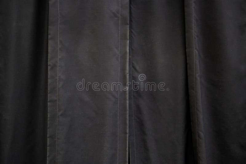 黑色窗帘天鹅绒 图库摄影