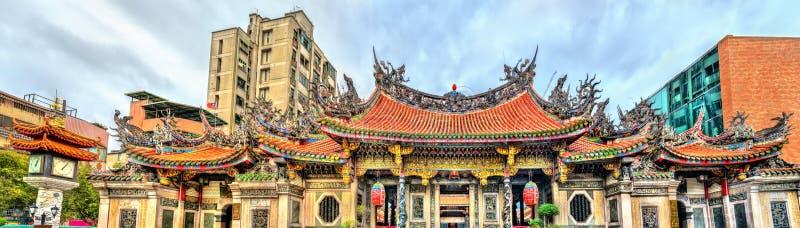 龙山寺在台北,台湾 免版税图库摄影