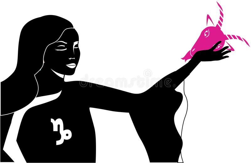 Één of andere dame van Steenbok vector illustratie