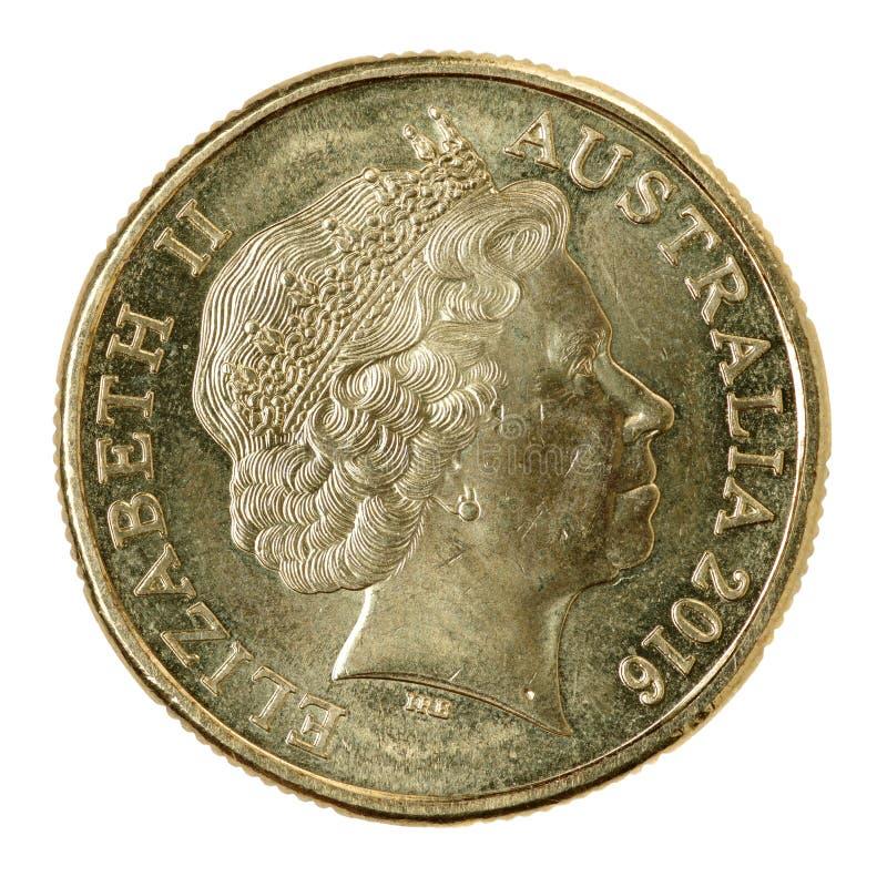 Één Australisch dollar muntstuk royalty-vrije stock fotografie
