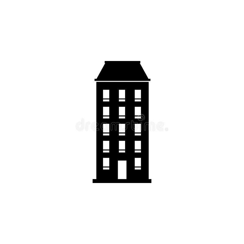 Één-blok de bouwpictogram Element van reispictogram voor mobiel concept en Web apps Het dunne lijn één-blok de bouwpictogram kan royalty-vrije illustratie