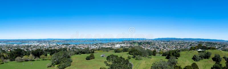 Één Boomheuvel, Auckland Nieuw Zeeland stock foto