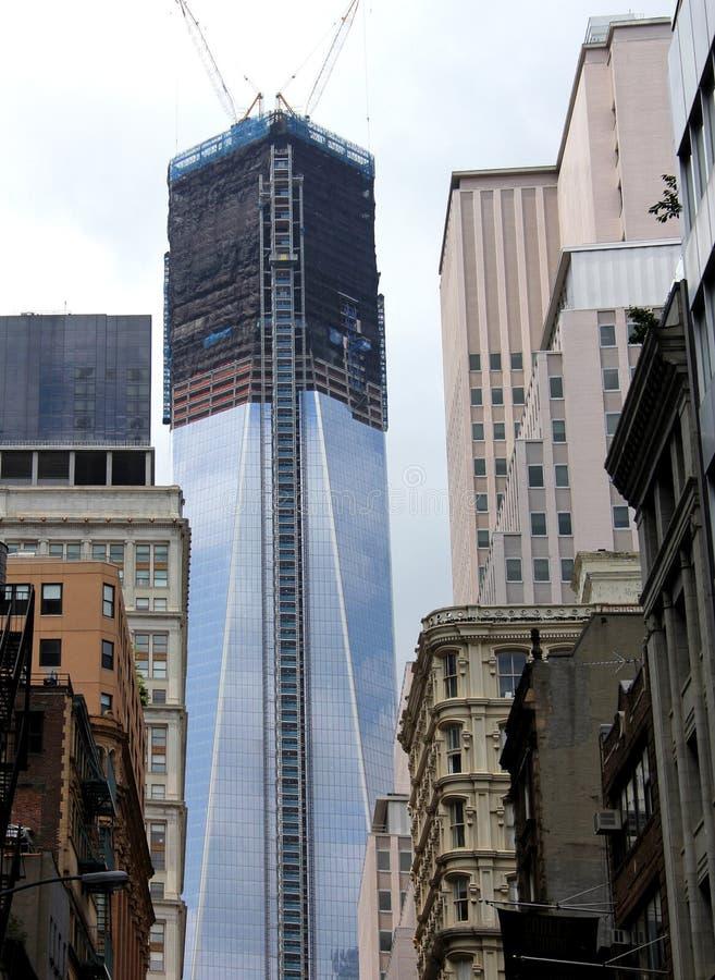 Één Bouw van het World Trade Center stock foto