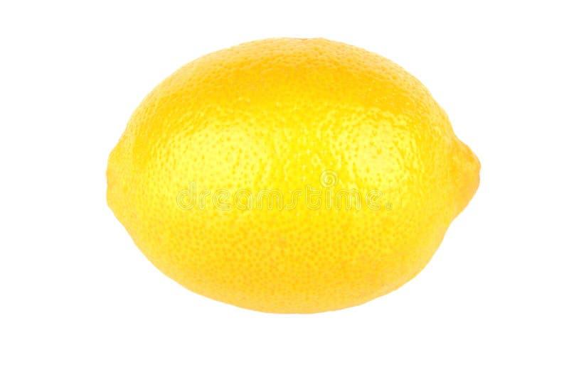 Één die citroen op wit BG wordt geïsoleerd royalty-vrije stock afbeeldingen
