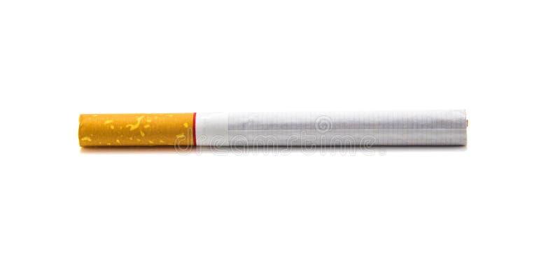 Één die sigaret op witte achtergrond wordt geïsoleerd royalty-vrije stock fotografie