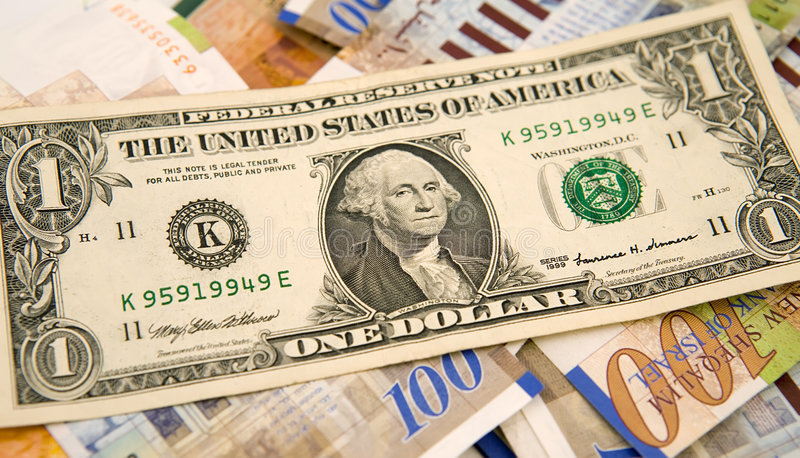 Één dollar & sjekels royalty-vrije stock foto's