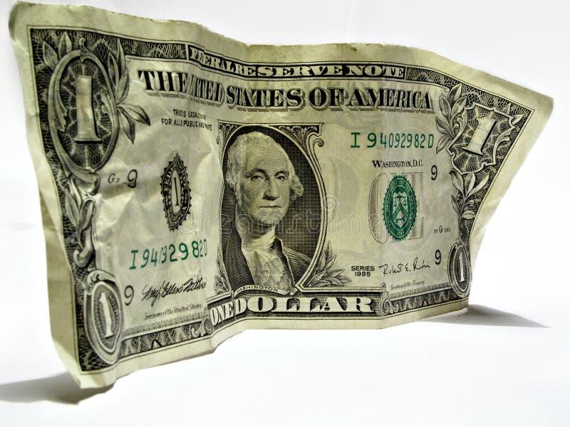 Één dollar van de V.S. royalty-vrije stock foto