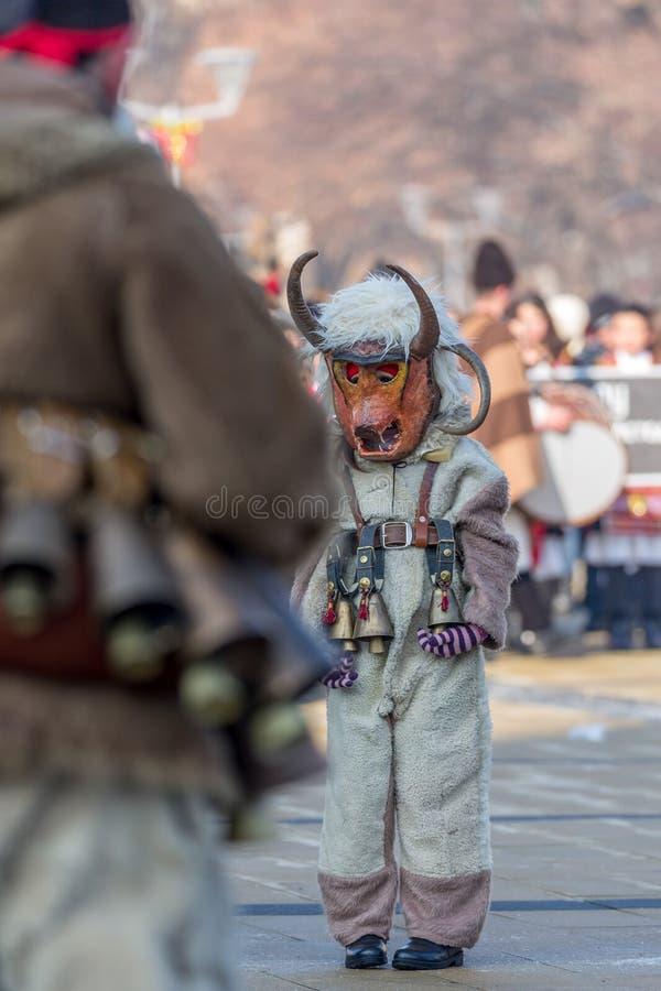 Één droevige jonge deelnemer in Carnaval royalty-vrije stock foto's