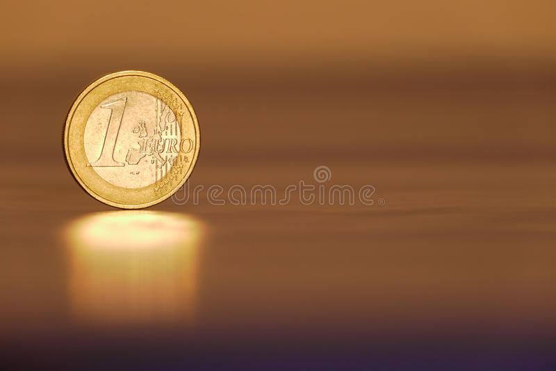 Één Euro royalty-vrije stock afbeelding
