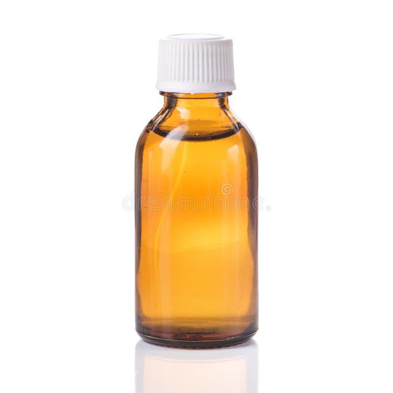 Één fles met vloeibare geneeskunde royalty-vrije stock fotografie