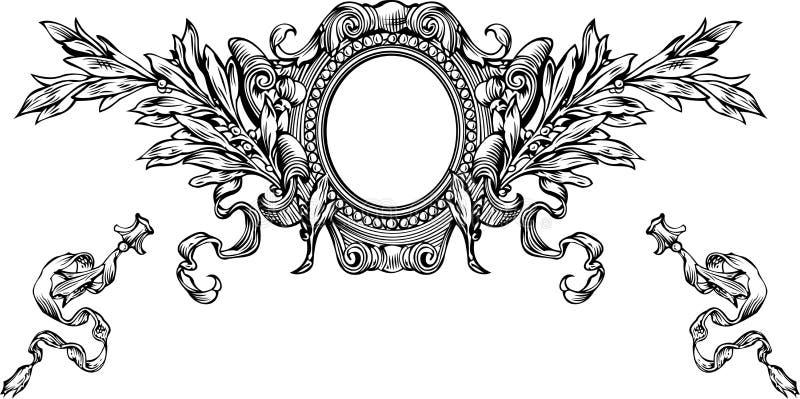 Één Frame en de Strepen van de Wapenkunde van de Kleur vector illustratie