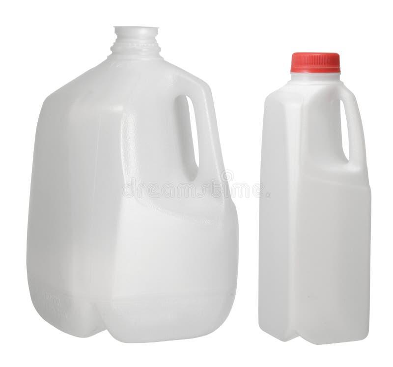 Één Gallon en Kwart gallonfles royalty-vrije stock fotografie