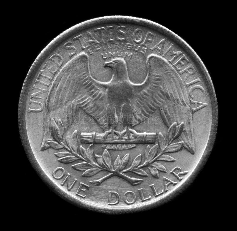 Één geïsoleerdea dollar royalty-vrije stock afbeelding