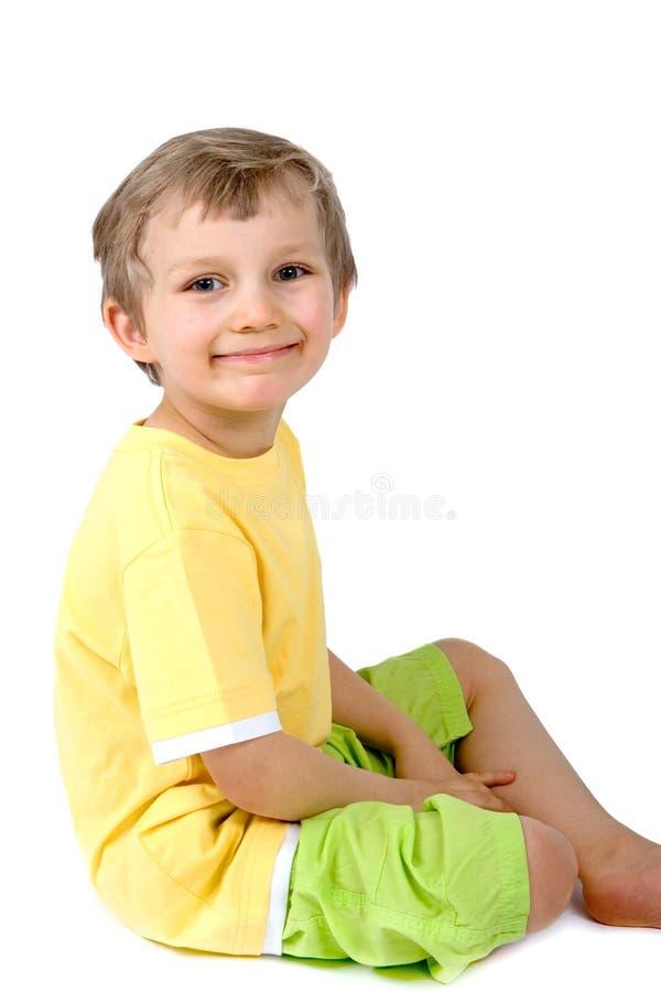 Één Gelukkige Jongen stock afbeelding