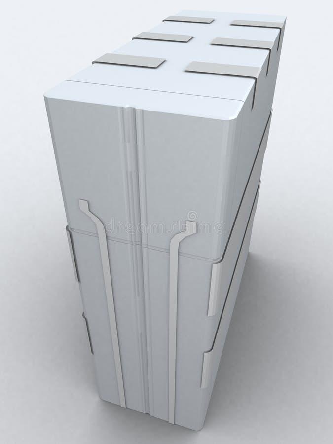 Één grijze toren vector illustratie