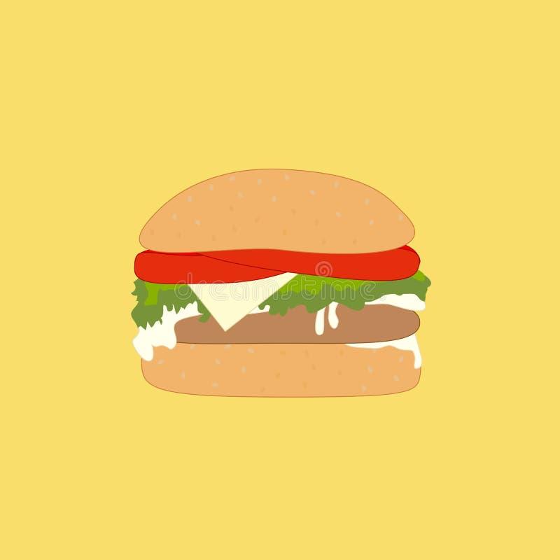 Één heerlijke hamburger royalty-vrije stock fotografie