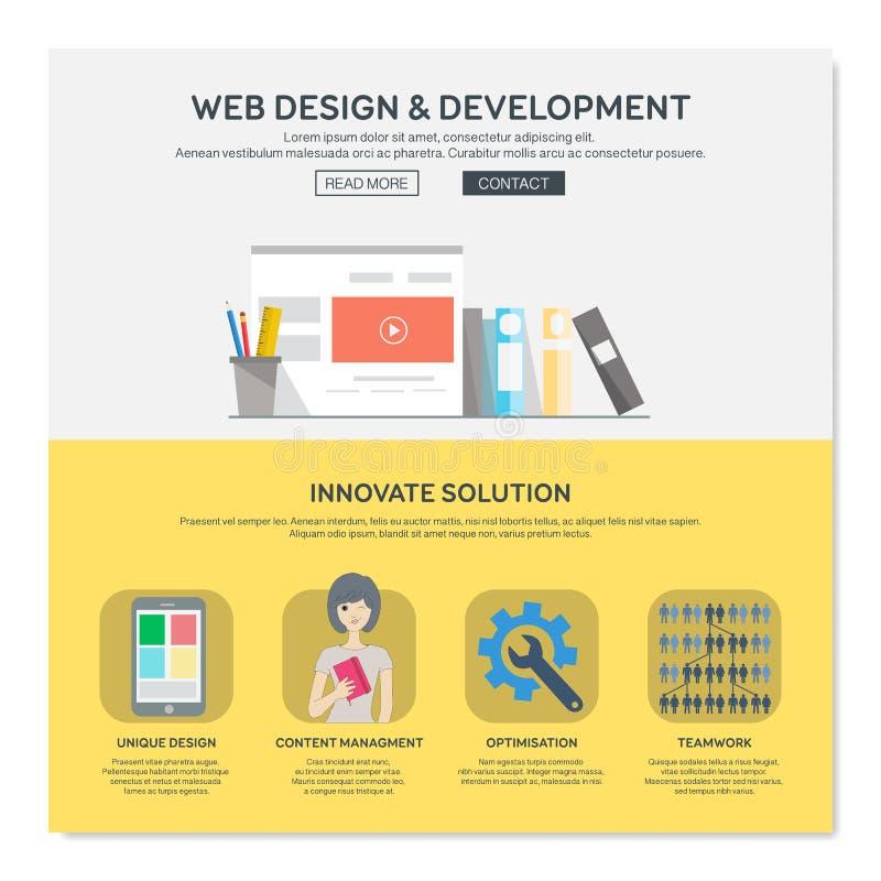 Één het ontwerpmalplaatje van het paginaweb vector illustratie