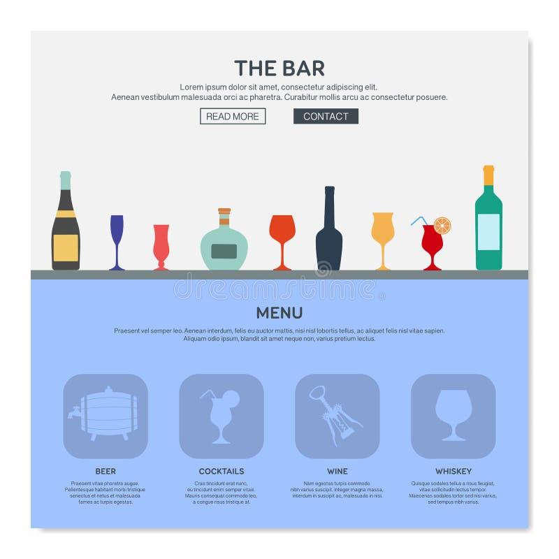 Één het ontwerpmalplaatje van het paginaweb stock illustratie