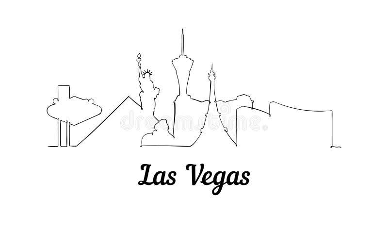 Één horizon van Las Vegas van de lijnstijl Eenvoudige moderne minimaistic stijlvector stock illustratie