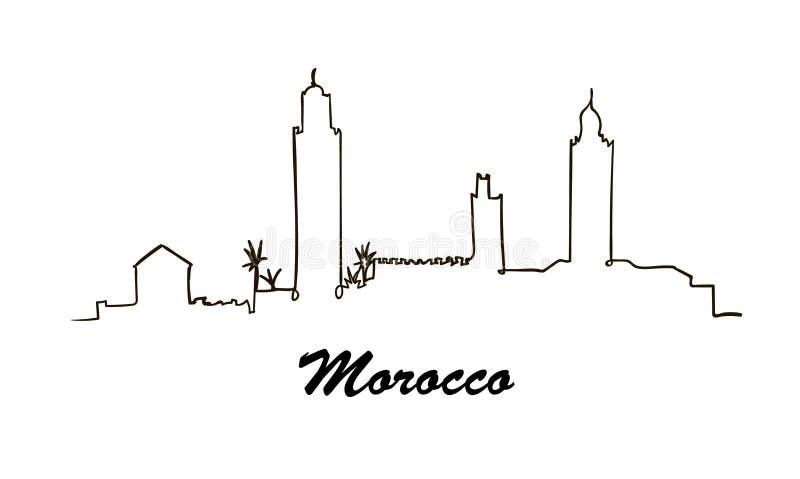 Één horizon van Marokko van de lijnstijl Eenvoudige moderne vector stock illustratie
