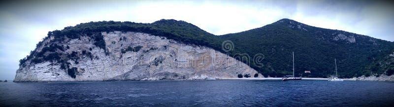 Één Huisbaai op Atokos-eiland stock foto
