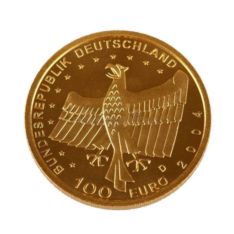Één hundret Euro gouden muntstuk royalty-vrije stock fotografie