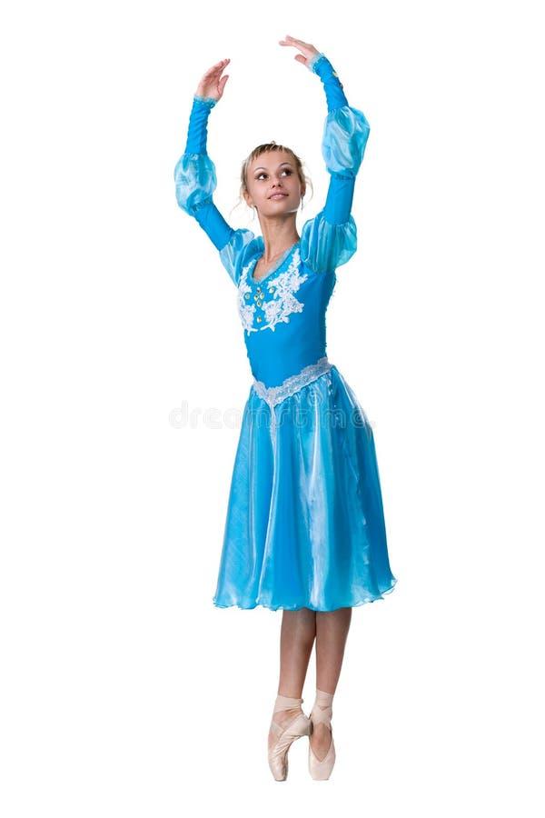 Één Kaukasische jonge balletdanser van de vrouwenballerina stock afbeelding
