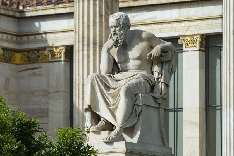 Één klassiek standbeeld van Socrates stock foto