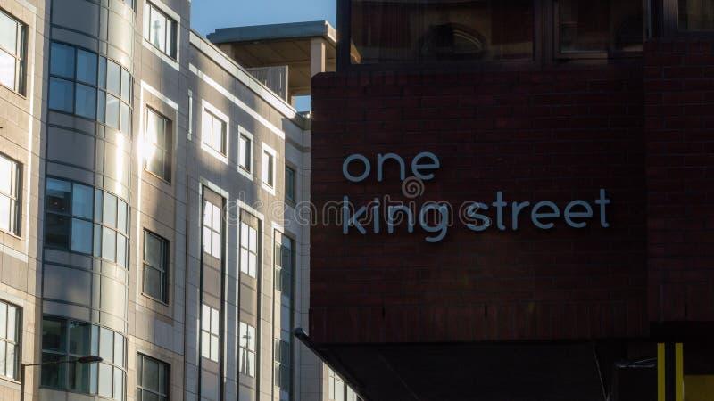 Één Koning Street Plaque royalty-vrije stock foto's